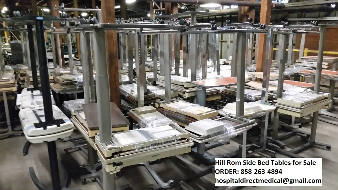 hill rom over bed tables for sale patient mate 632 f model used hospital medical equipment