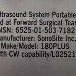 Sonosite 180 Plus ultrasound field kits