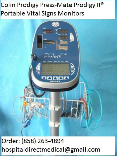 Endoscopy Room Equipment List: Colin Prodigy Press-Mate Prodigy II Portable Vital Signs