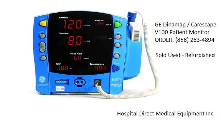 Ge Dinamap Carescape V100 Patient Monitor Used Hospital