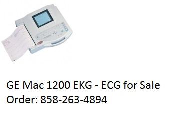 Ge Mac 1200 Ecg Ekg Machine Used Hospital Medical Equipment
