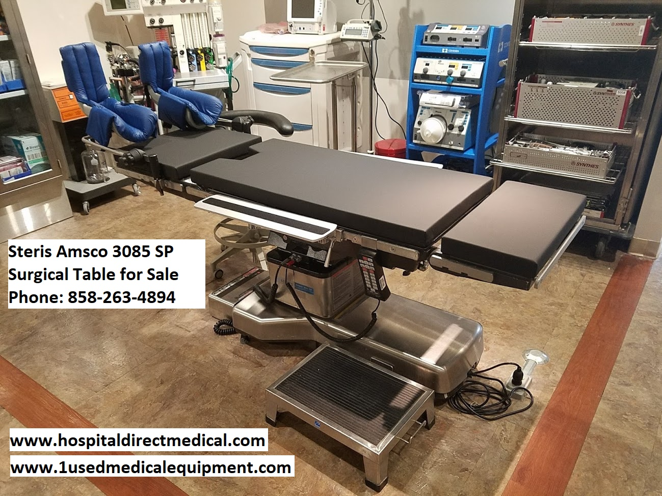 Steris Amsco 3085 Sp Operating Room Surgical Table Used