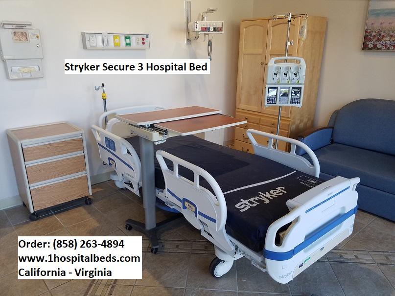 Stryker Secure 3 hospital bed   Used Hospital Medical Equipment