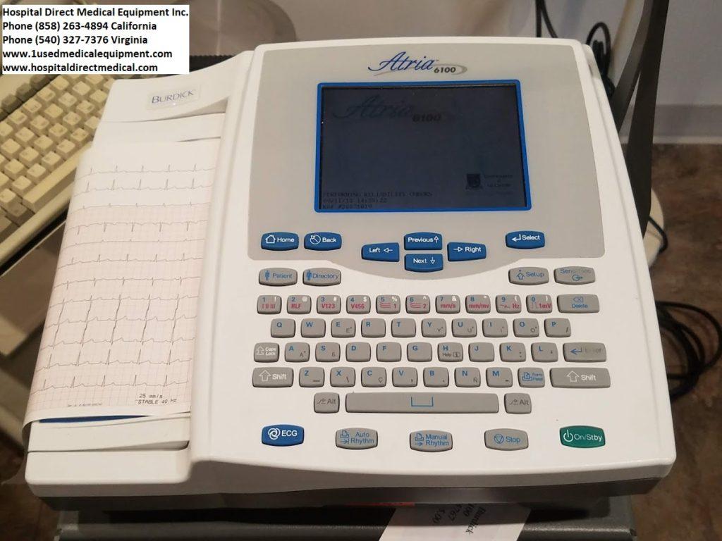 Burdick Atria 6100 12-Lead EKG Machine | Used Hospital